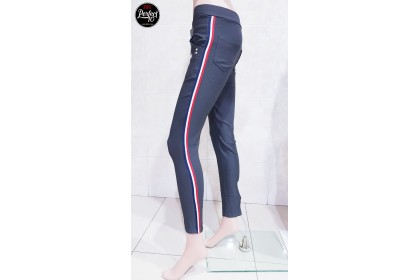Cotton Blend With Stripe Skinny Fit Jeggings [AF980]