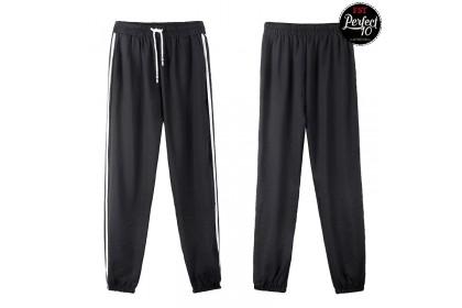 FST Women Trousers Female Cotton Loose Casual Stripe Pants [M091]