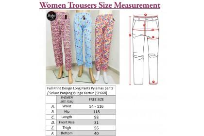 FST Full Print Design Long Pants Pyjamas pants / Seluar Panjang Bunga Kartun [SP668]