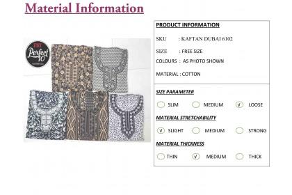 FST Baju Kaftan Baju Kelawar Viral (Kaftan Dubai) Corak Menarik [6102]