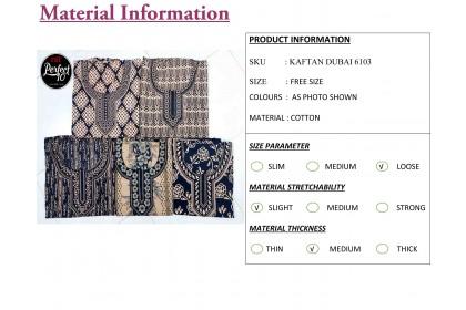 FST Baju Kaftan Baju Kelawar Viral (Kaftan Dubai) Corak Menarik [6103]
