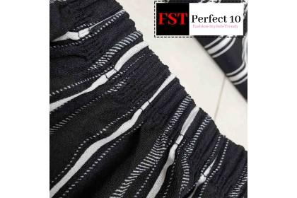 FST Plus Size Black White Line Palazzo / Palazo Belang Hitam Putih Besar [937]