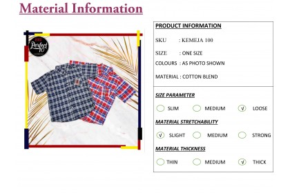 FST Youth Casual Shirt Short Sleeve Teens Clothing / Kemeja Remaja [100]