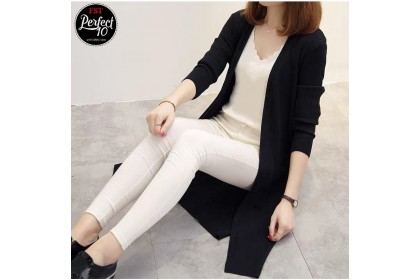 FST Women Long Sleeve Cardigan Dress Tops Clothes Sun Protection / Baju Kardigan Lengan Panjang [4376]