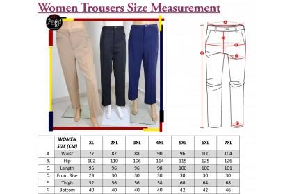 FST Ladies Slack Long Pants Top Quality / Seluar Kerja Panjang Wanita Berkualiti [505]