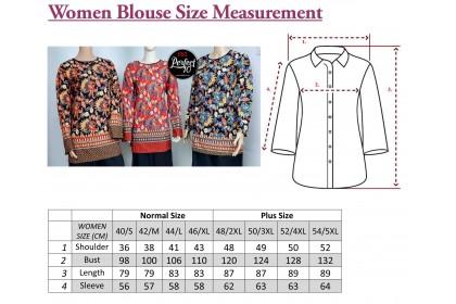 FST Muslimah S-5XL Plus Size Zip Flora Batik Long Sleeve Fashion Blouse Baju Raya 2021 [757_1]