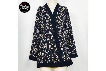 FST Flora Kimono Cardigan Outerwear / Kimono Kardigan Baju Kardigan Bunga Lengan Panjang [601]
