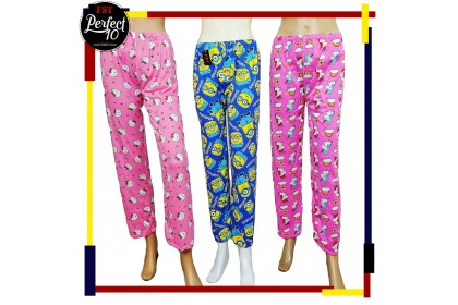 FST Kids Full Print Design Long Pants Pyjamas pants / Seluar Panjang Bunga Kartun [KID-SP668]