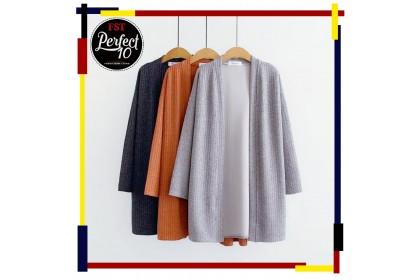 FST Women Long Sleeve Cardigan Dress Tops Clothes Sun Protection / Baju Kardigan Lengan Panjang 2 [702]